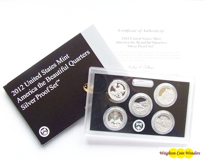 2012 USA America the Beautiful Quarters Silver Proof Set